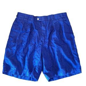 Fairway & Greene Men's Blue Linen Shorts sz 40